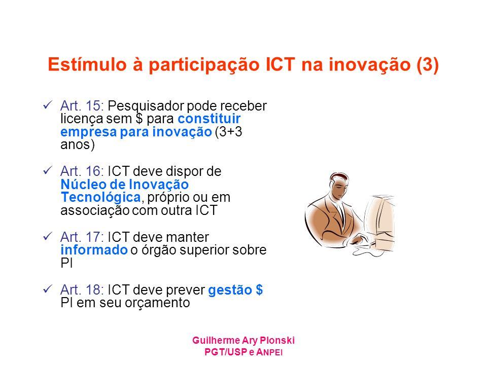 Estímulo à participação ICT na inovação (3)