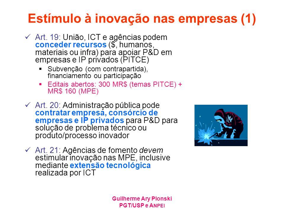 Estímulo à inovação nas empresas (1)