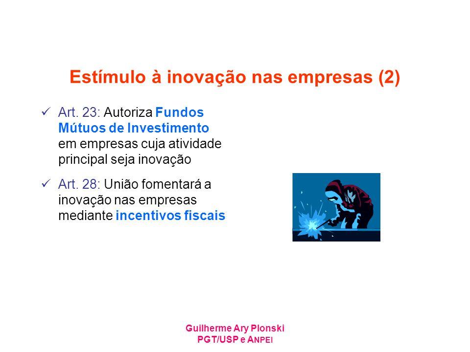 Estímulo à inovação nas empresas (2)