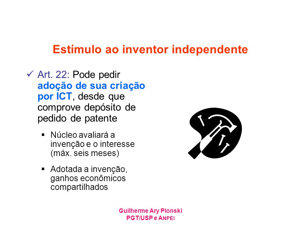 Estímulo ao inventor independente