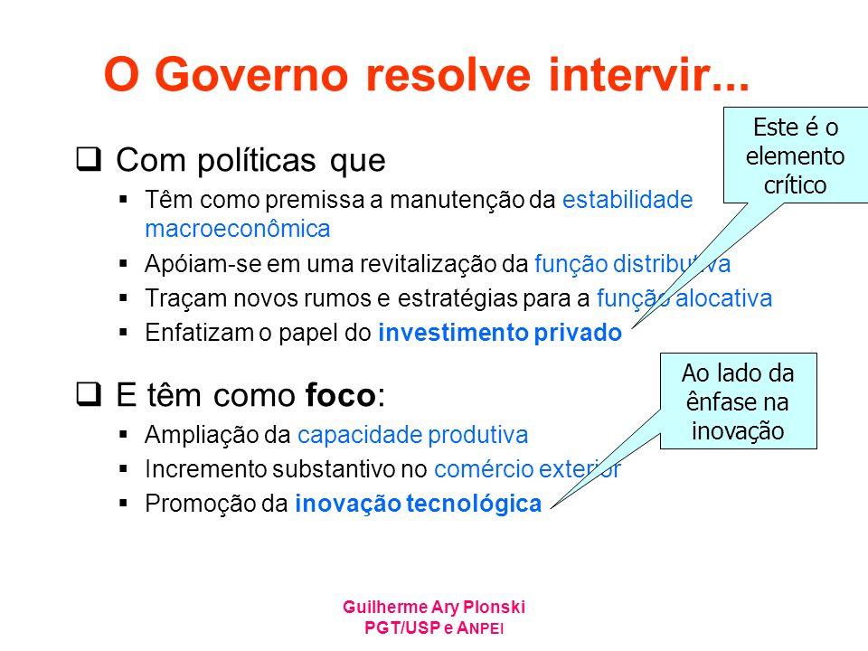 O Governo resolve intervir...