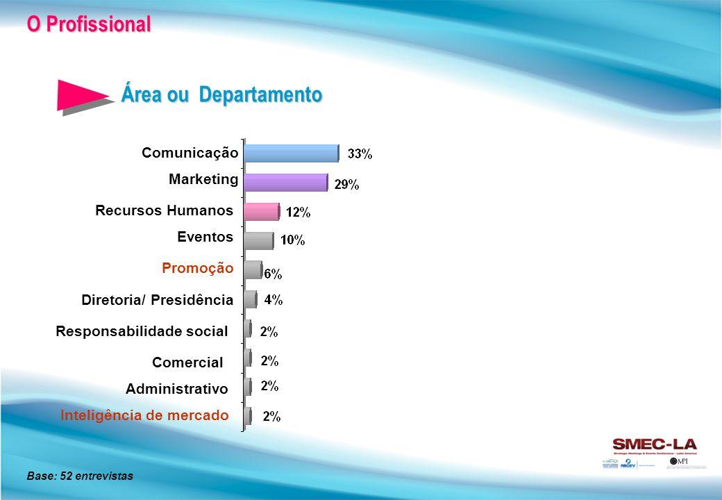 O Profissional Área ou Departamento Comunicação Marketing