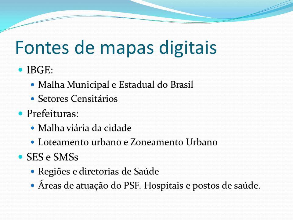 Fontes de mapas digitais