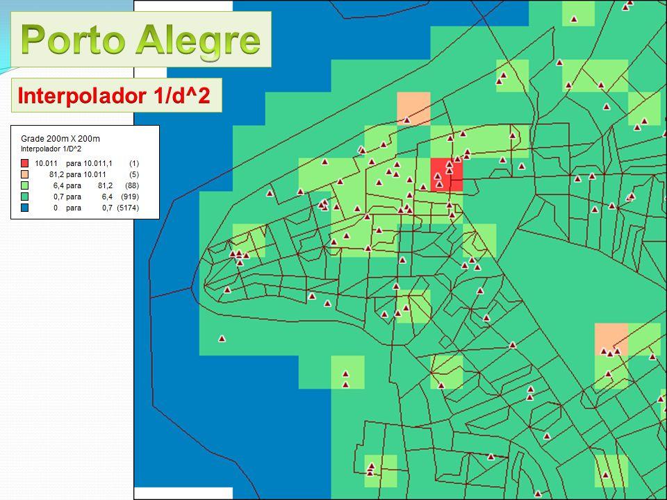 Porto Alegre Interpolador 1/d^2