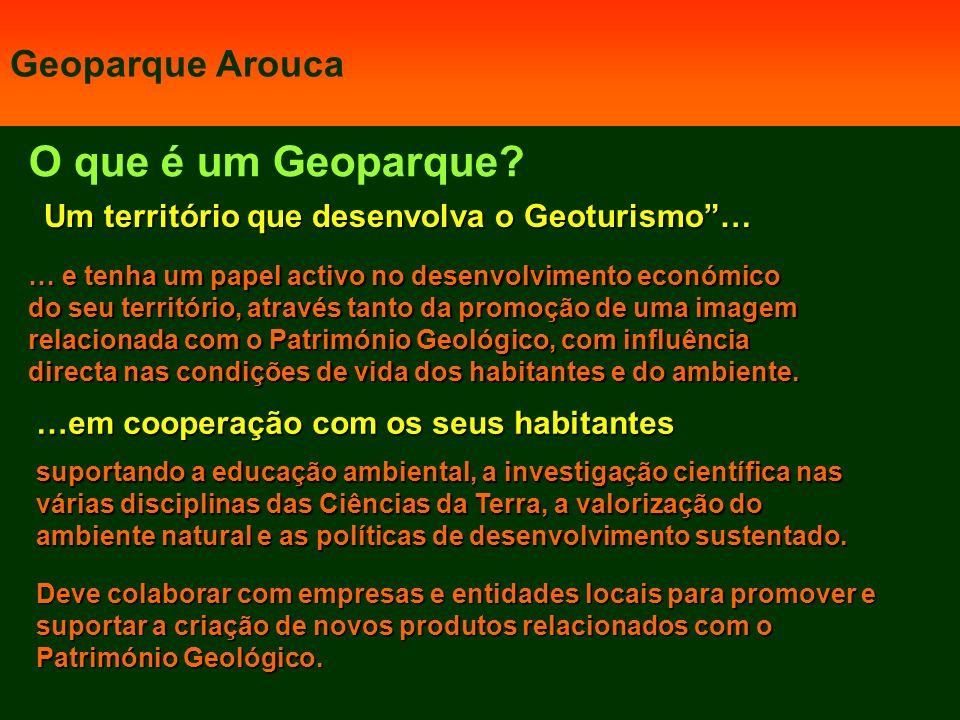 O que é um Geoparque Geoparque Arouca