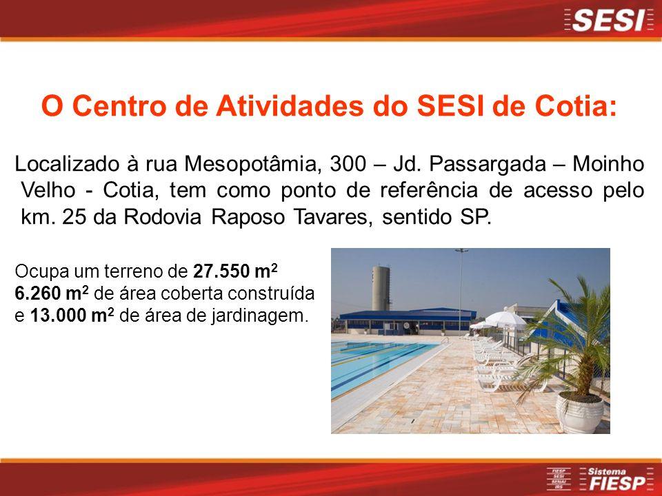 O Centro de Atividades do SESI de Cotia: