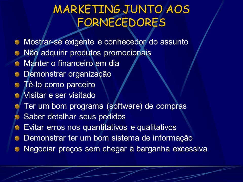 MARKETING JUNTO AOS FORNECEDORES