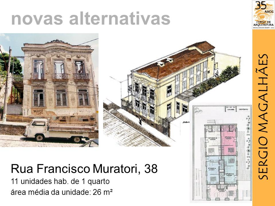 novas alternativas SERGIO MAGALHÃES Rua Francisco Muratori, 38