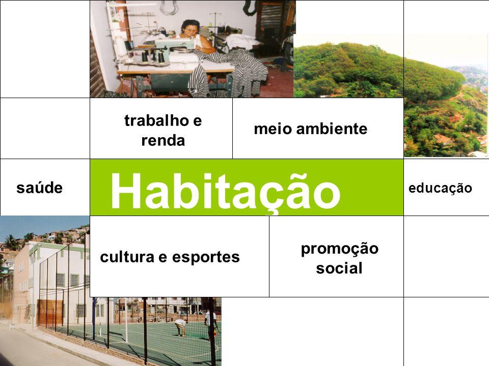 Habitação trabalho e renda meio ambiente saúde promoção social