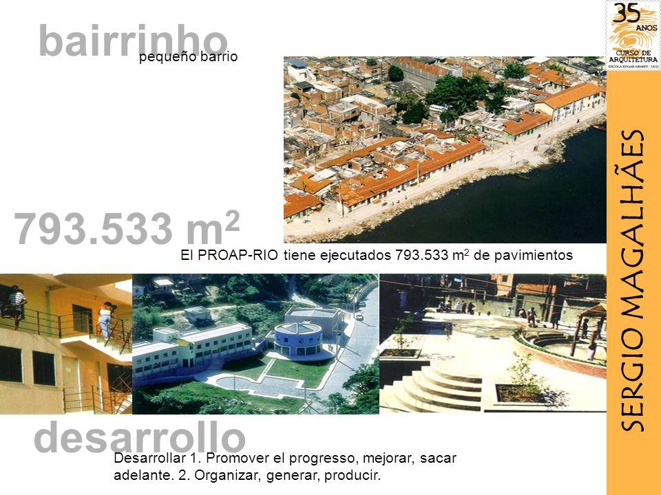 bairrinho 793.533 m2 desarrollo SERGIO MAGALHÃES pequeño barrio