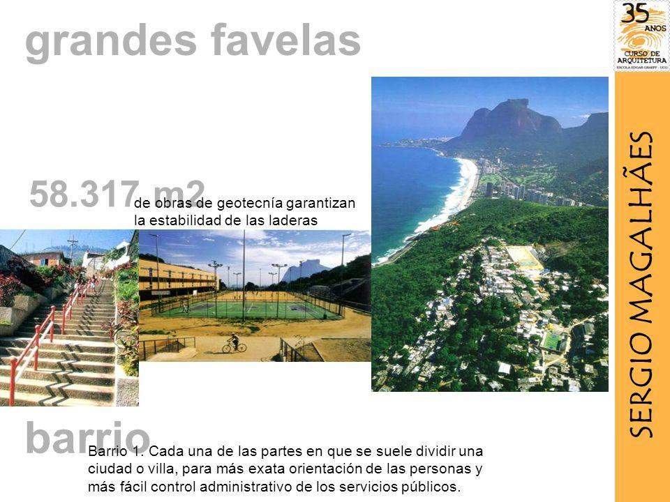 grandes favelas barrio 58.317 m2 SERGIO MAGALHÃES