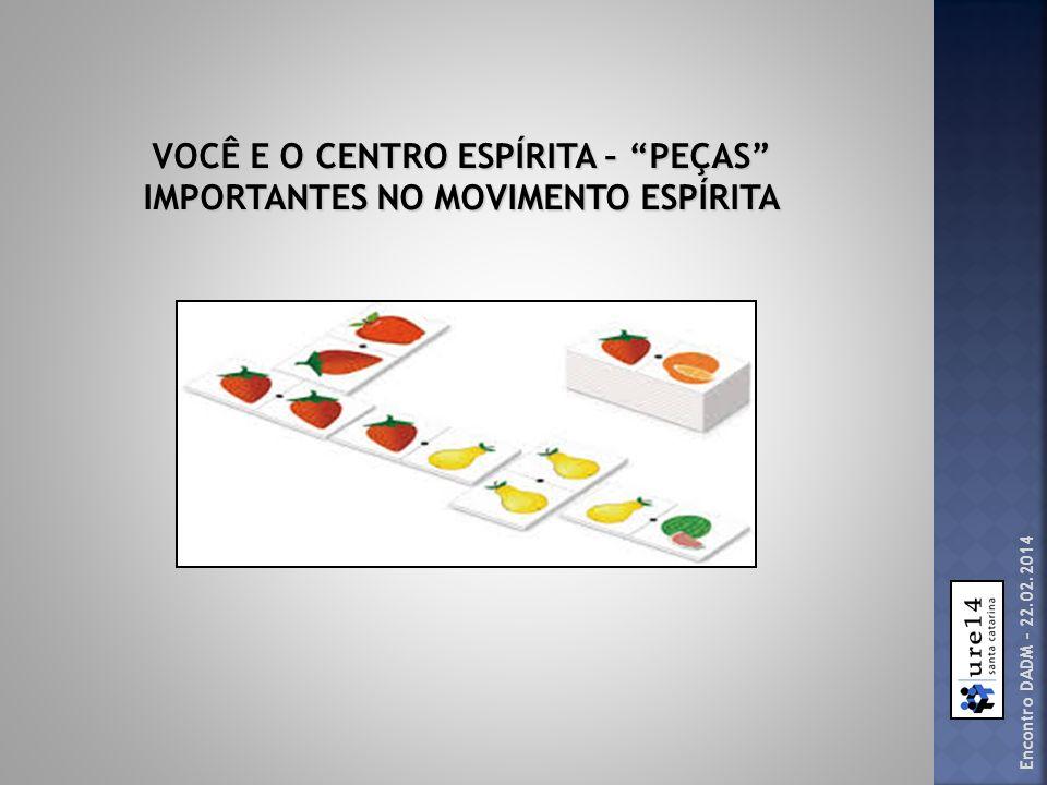 VOCÊ E O CENTRO ESPÍRITA – PEÇAS IMPORTANTES NO MOVIMENTO ESPÍRITA