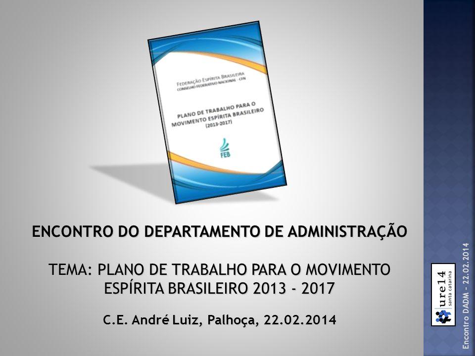 ENCONTRO DO DEPARTAMENTO DE ADMINISTRAÇÃO