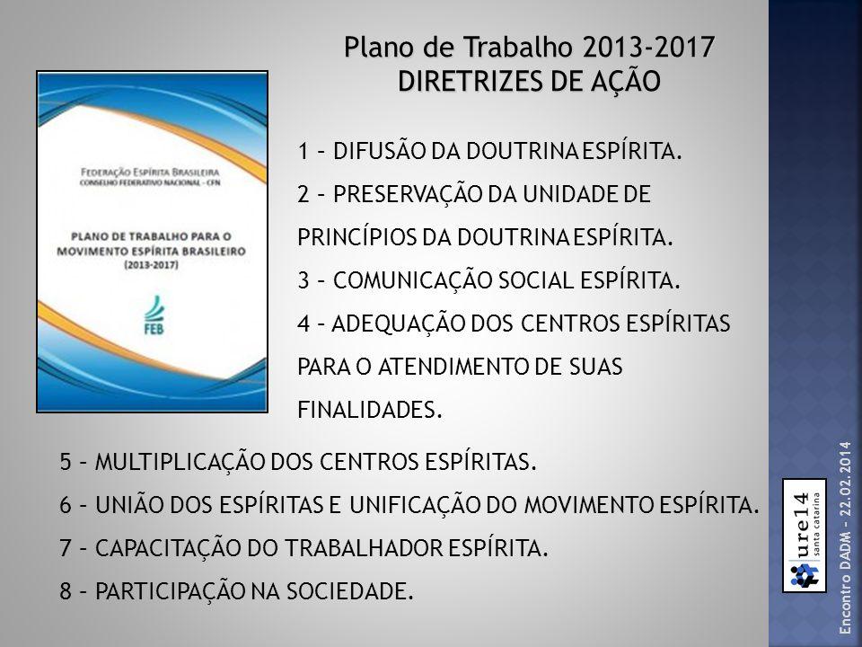 Plano de Trabalho 2013-2017 DIRETRIZES DE AÇÃO