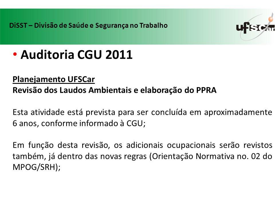 Auditoria CGU 2011 Planejamento UFSCar
