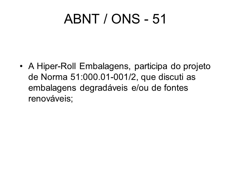 ABNT / ONS - 51