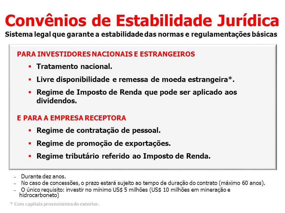 Convênios de Estabilidade Jurídica