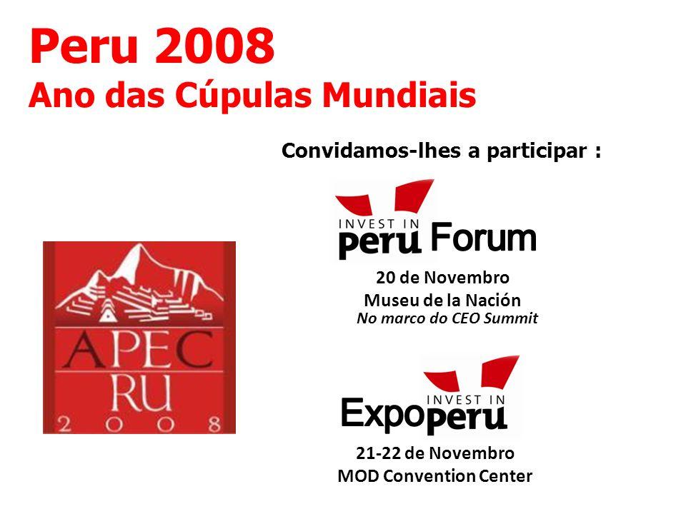 Peru 2008 Forum Expo Ano das Cúpulas Mundiais