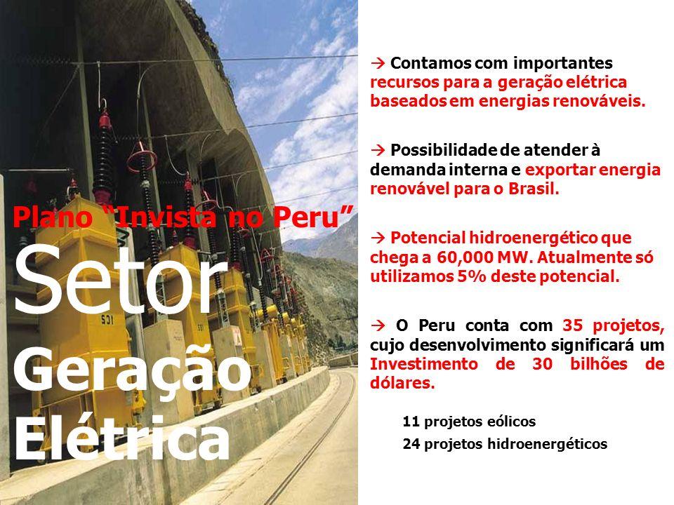 Setor Geração Elétrica Plano Invista no Peru