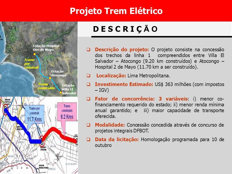 Projeto Trem Elétrico D E S C R I Ç Ã O