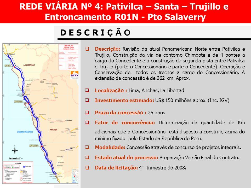REDE VIÁRIA Nº 4: Pativilca – Santa – Trujillo e