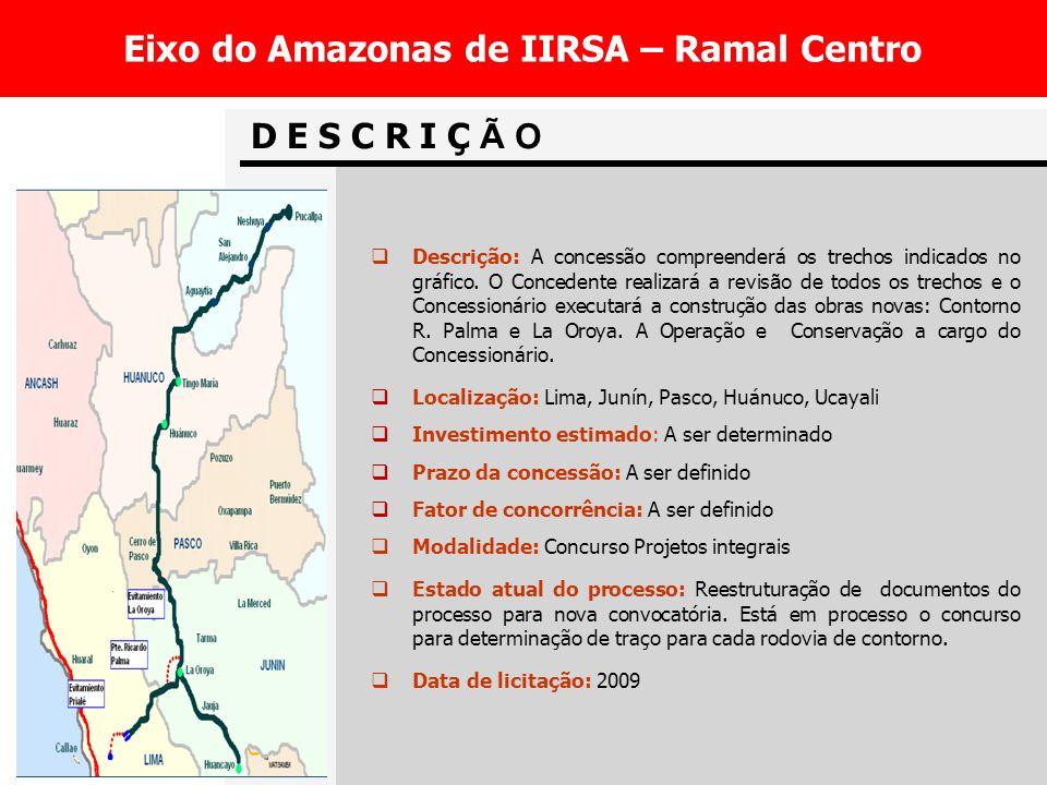 Eixo do Amazonas de IIRSA – Ramal Centro