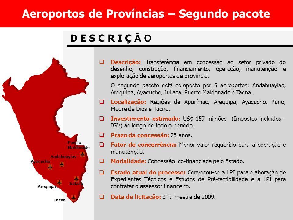 Aeroportos de Províncias – Segundo pacote