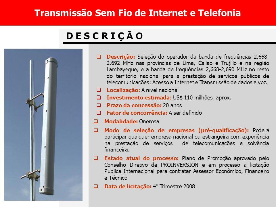 Transmissão Sem Fio de Internet e Telefonia