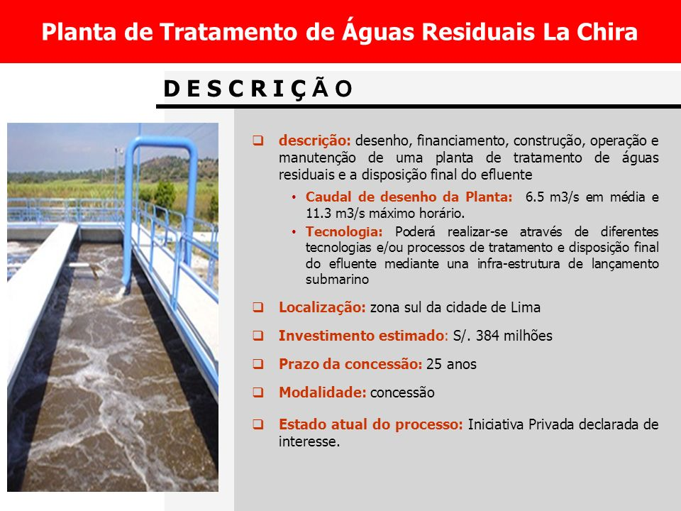 Planta de Tratamento de Águas Residuais La Chira