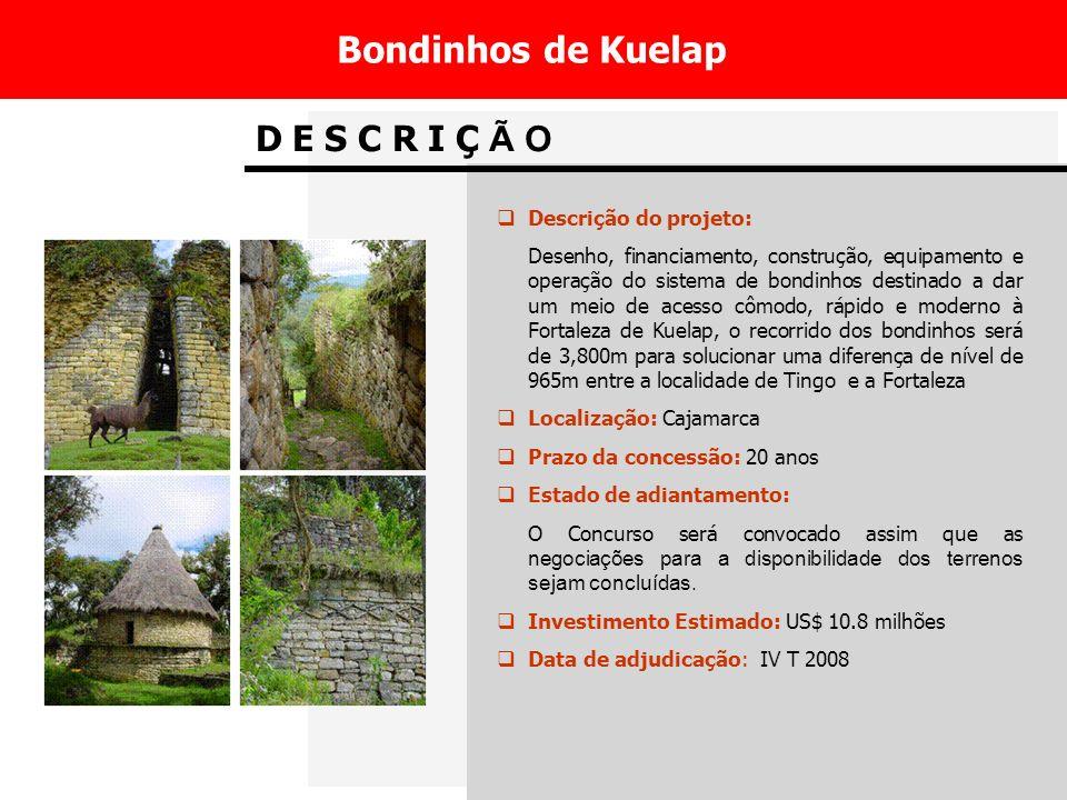 Bondinhos de Kuelap D E S C R I Ç Ã O Descrição do projeto: