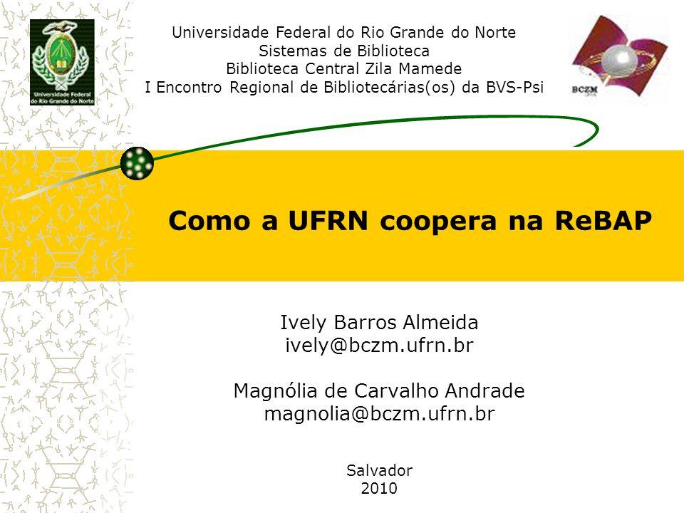 Como a UFRN coopera na ReBAP