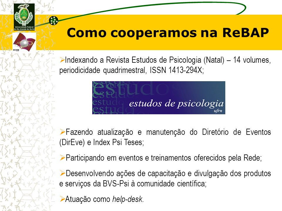 Como cooperamos na ReBAP