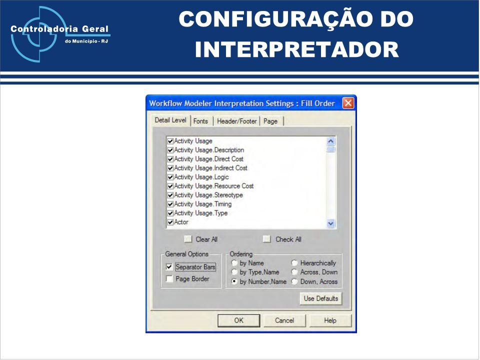 CONFIGURAÇÃO DO INTERPRETADOR