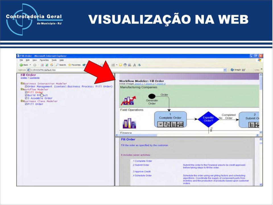 VISUALIZAÇÃO NA WEB