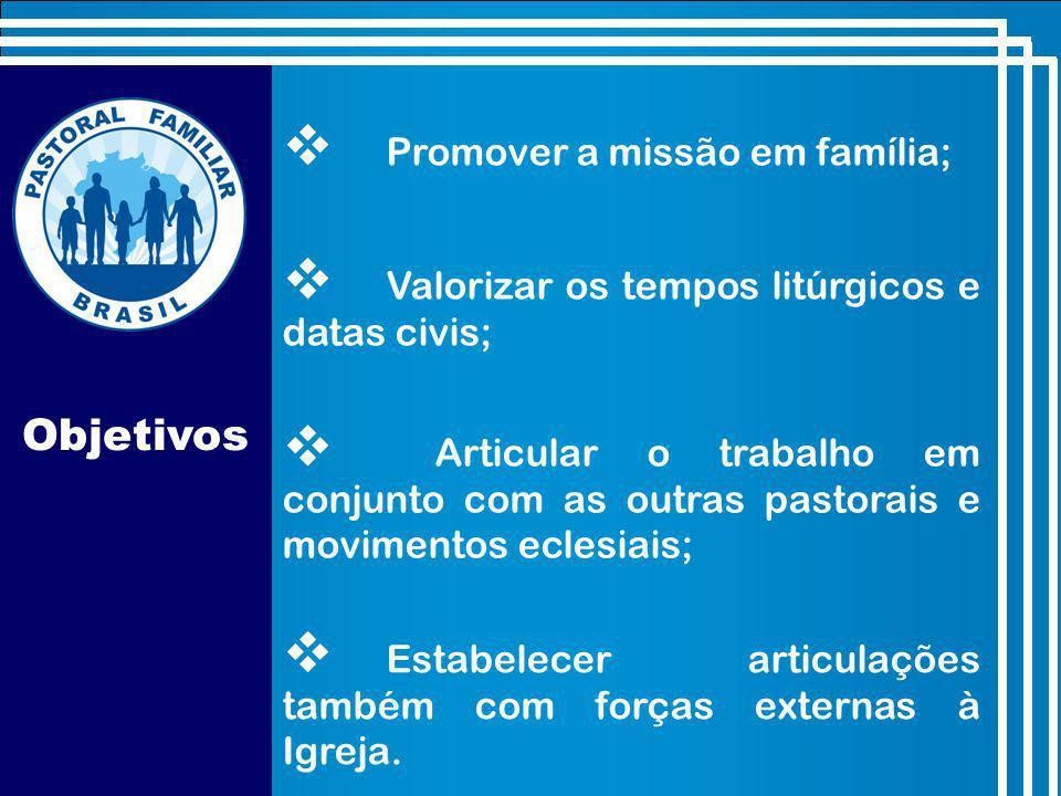 Objetivos Promover a missão em família;