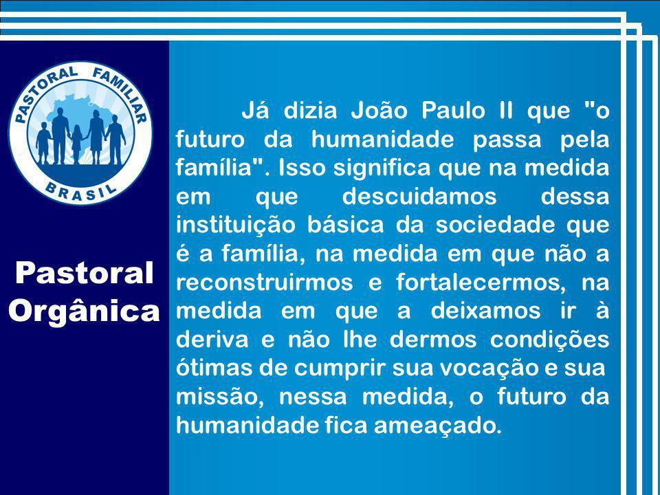 Já dizia João Paulo II que o futuro da humanidade passa pela família