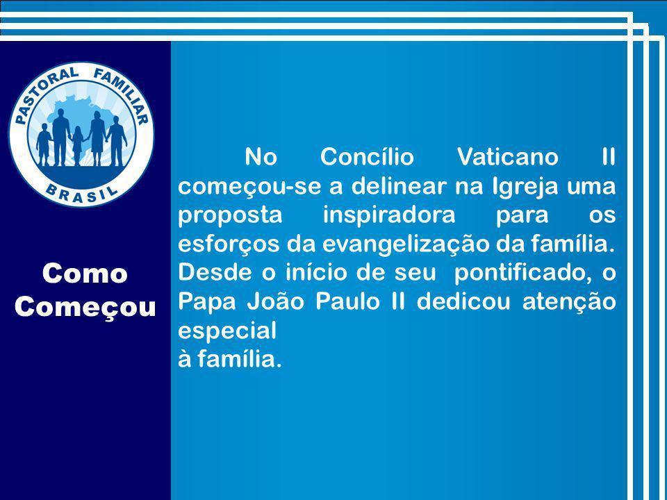 No Concílio Vaticano II começou-se a delinear na Igreja uma proposta inspiradora para os esforços da evangelização da família. Desde o início de seu pontificado, o Papa João Paulo II dedicou atenção especial