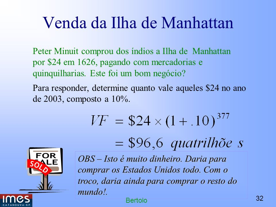 Venda da Ilha de Manhattan