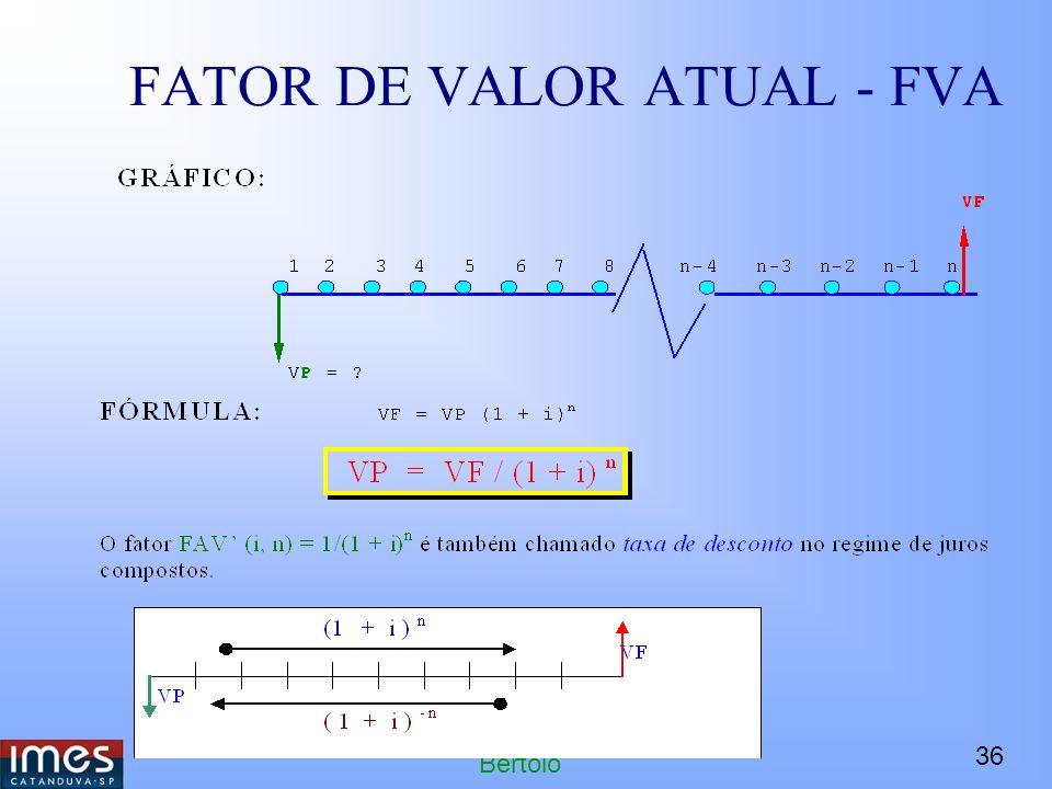 FATOR DE VALOR ATUAL - FVA