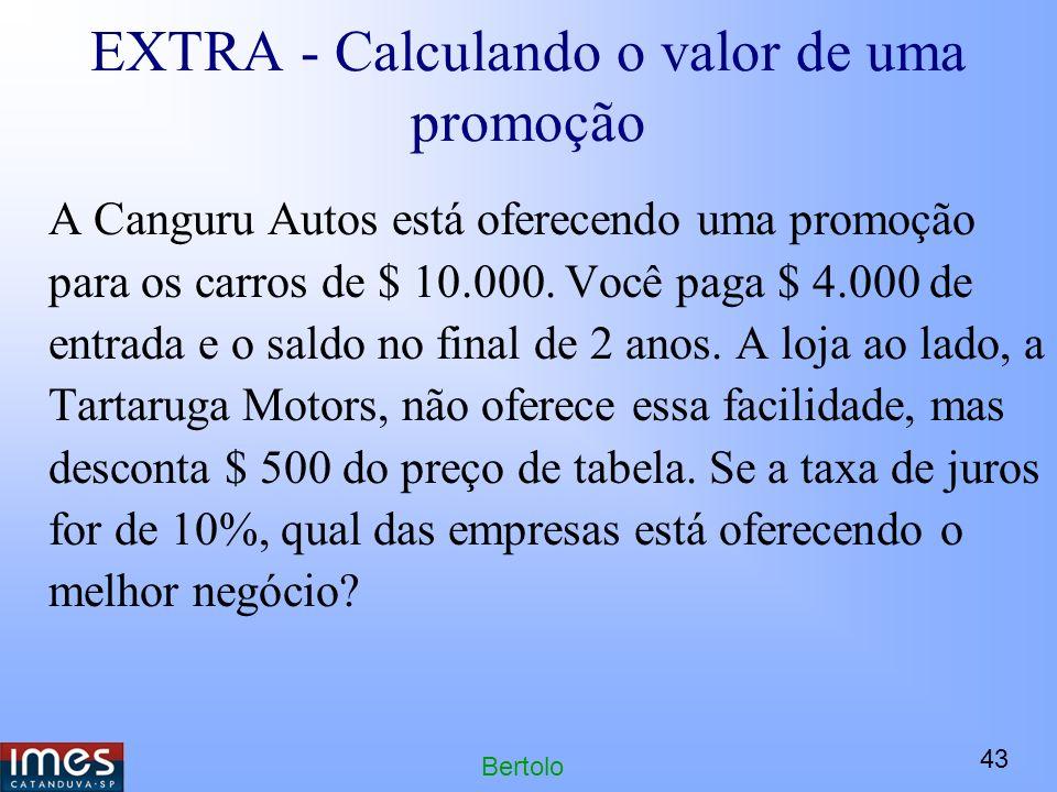 EXTRA - Calculando o valor de uma promoção