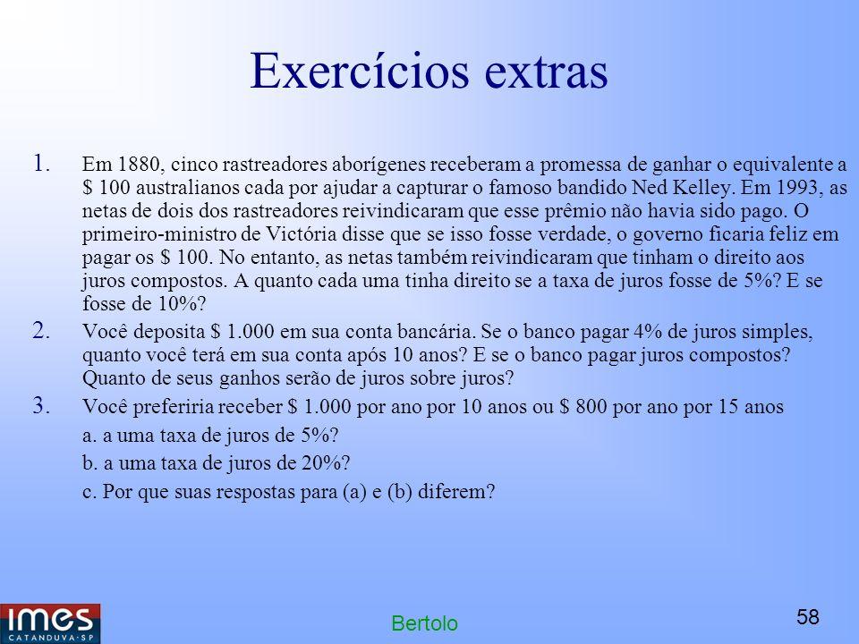 Exercícios extras