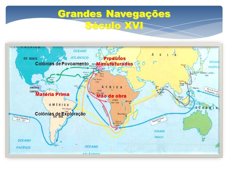 Grandes Navegações Século XVI Produtos Manufaturados