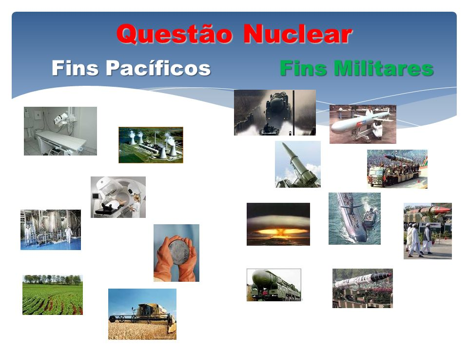 Questão Nuclear Fins Pacíficos Fins Militares