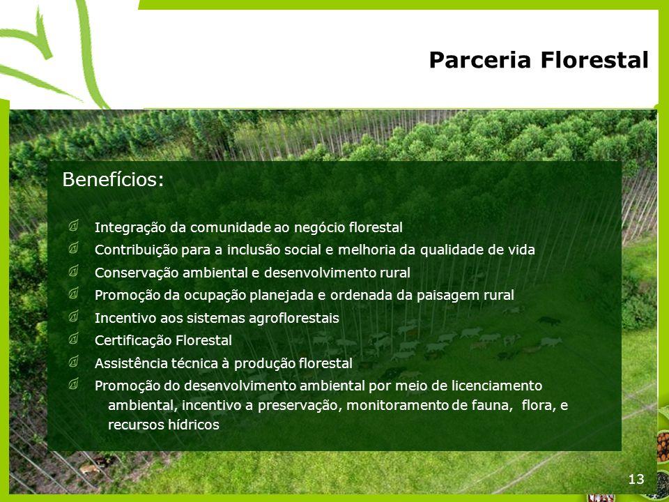 Parceria Florestal Benefícios: