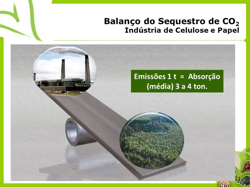 Balanço do Sequestro de CO2 Indústria de Celulose e Papel