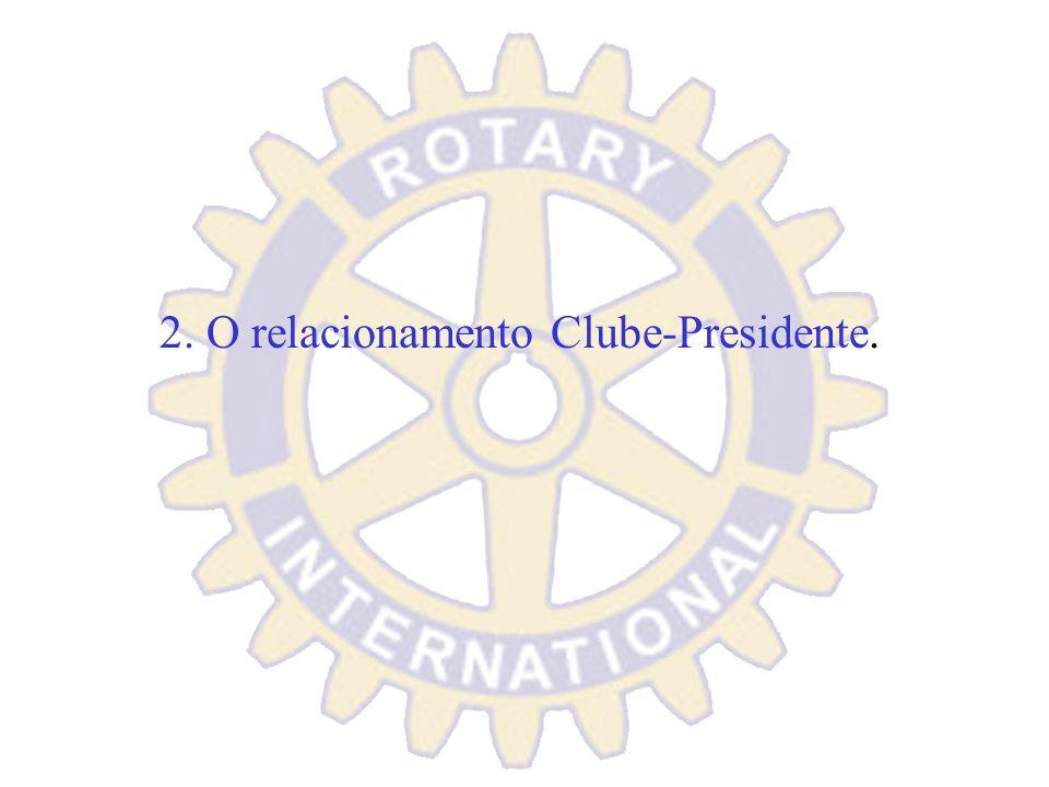 2. O relacionamento Clube-Presidente.