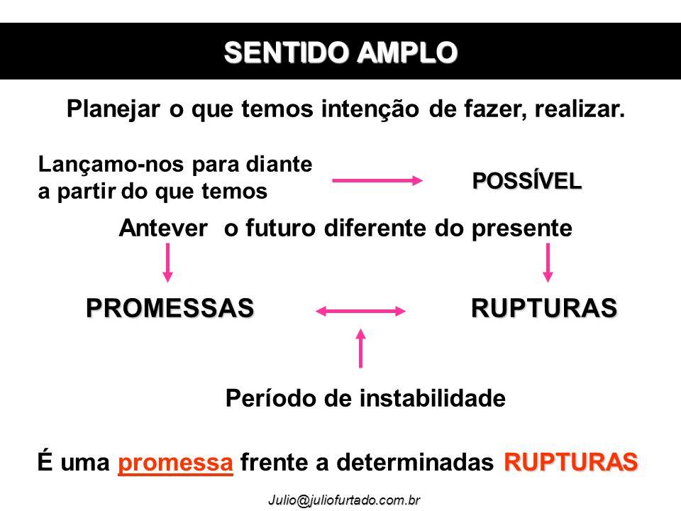 SENTIDO AMPLO PROMESSAS RUPTURAS