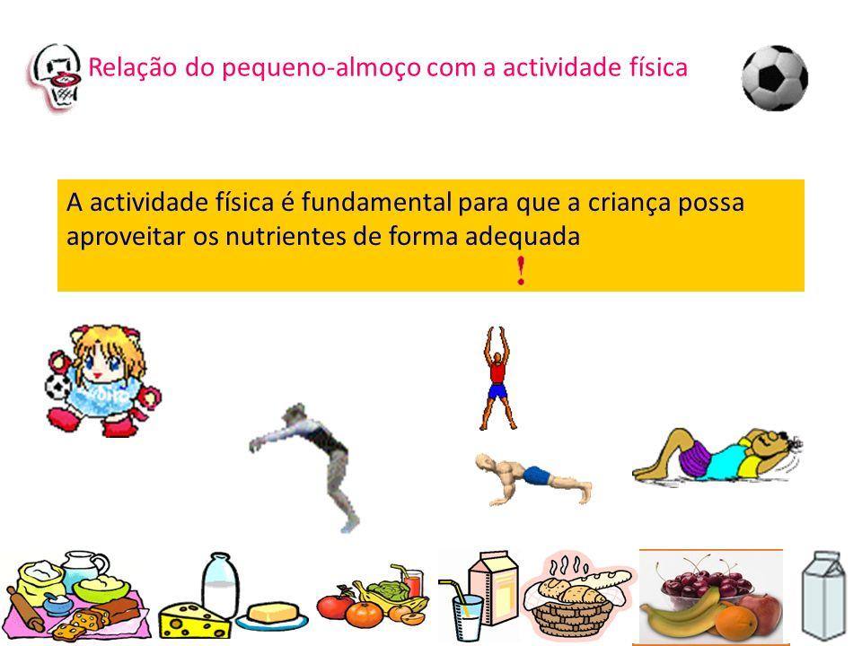 Relação do pequeno-almoço com a actividade física