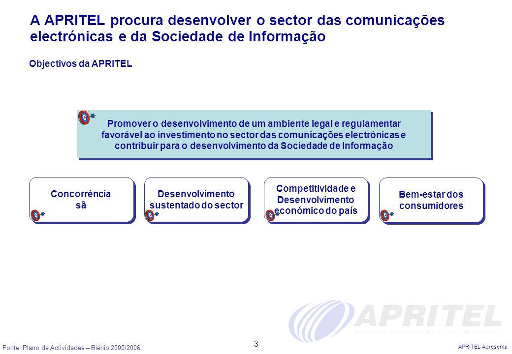 A APRITEL procura desenvolver o sector das comunicações electrónicas e da Sociedade de Informação
