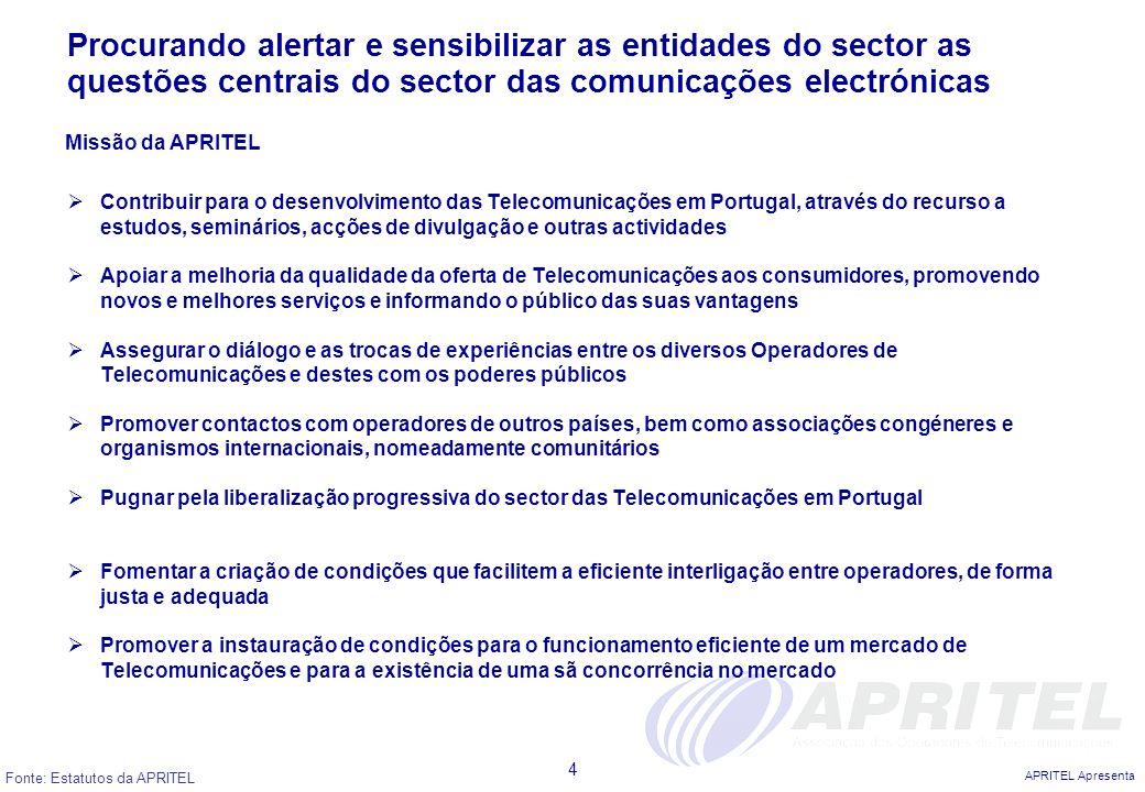 Procurando alertar e sensibilizar as entidades do sector as questões centrais do sector das comunicações electrónicas